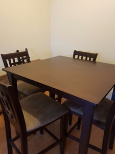 High top dining table and chairs