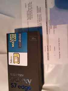 Samsung Galaxy S7 Edge noir 32Gb Neuf scelle, factory unlocked