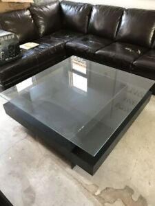 Square Glass Display Coffee Table