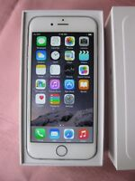 UNLOCKED IPHONE 6 WHITE 16GB IN EXCELLENT SHAPE in retail box