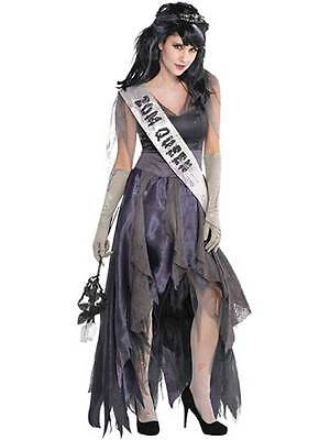 Scary Halloween Fancy Dress Costume Zombie Prom Queen Homecoming Corpse UK 8-20 (Homecoming Queen Costume)