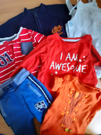 6-9m boys clothes - jumper, tops, vest, dungarees, trousers