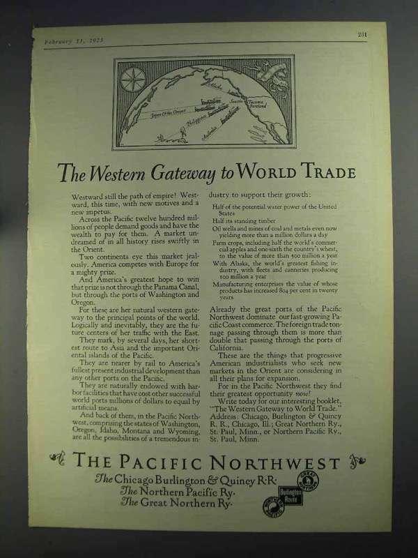 1925 The Pacific Northwest Ad - Western Gateway