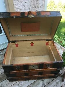 antique malle coffre trunk chest 1880's West Island Greater Montréal image 4