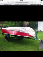 12' aluminum , deep, with trailer and fish finder