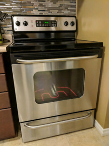 GE stainless steel oven