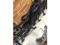4 x Cast Iron Bench ends & 2 x Matching table ends - Good Condition.