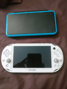 Trading new nintendo 2ds xl and ps vita slim