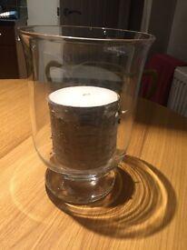 Hurricane vase candle