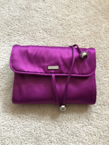 Coach Purple Satin Jewelry Roll with Tags Retails: $98