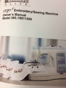 Embroidery/Sew Machine:  Kenmore Elite model 19011500 by Janome