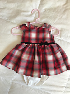 Brand new newborn party dress with diaper cover