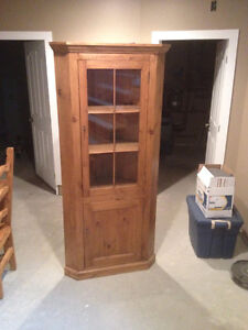 Mexican style corner cabinet
