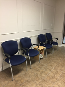 Four Office Waiting Room Chairs For Sale