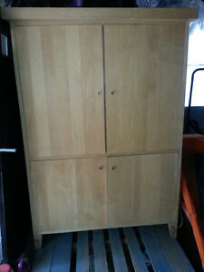 Handcrafted Solid Maple Armoire
