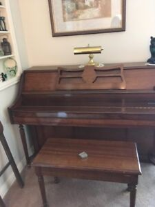 Apartment sized piano and bench