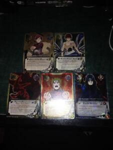 5 Cartes Naruto extremement rare/ 5 Naruto Cards very rare