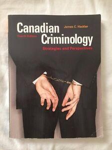 Canadian Criminology fourth edition by James C. Hackler