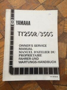 1985 Yamaha TY250R/350S Owners Service Manual