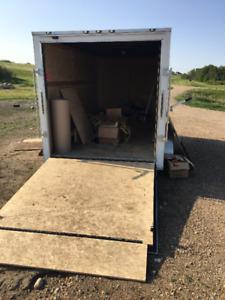2018 white Cargo Trailer 7x14x6.6 with  2 axles sale