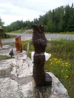 chainsaw  carvings local