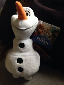 Disney soft tog Olaf character out of frozen brand new with tags