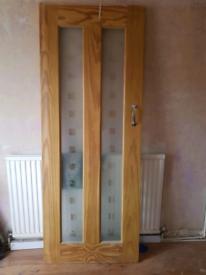 4 internal glazed door on oak