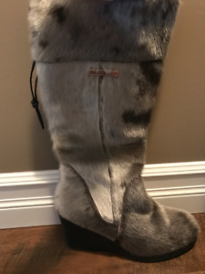 Ladies seal skin boots