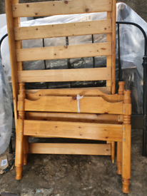 Single bed frame. Delivery and mattress available extra cost