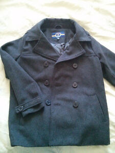 Grey Wool Peacock Coat Size 14/16 Boys