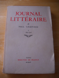 Ouvrages de Paul Léautaud (Paris 1877-1956)