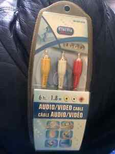Audio Video Cables -6 feet in length or 1.8 meters.
