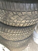 4 winter tires Dunlop 245/45/18