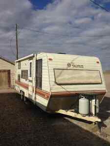 Terry trailer with bunks