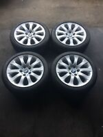 """17"""" BMW alloy rims with DUNLOP winters"""