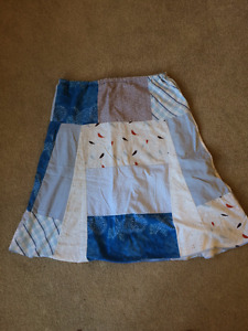 Hand made quilt style skirt, size large