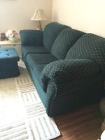 NEW PRICE!! Excellent Condition Sofa Bed & Ottoman