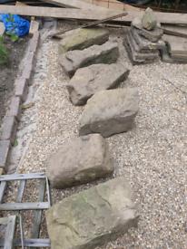 Stone Rocks, Boulders, Patio Pavers and Step