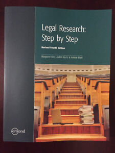 Legal Research: Step by Step, Revised 4th Edition