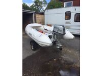 3.2 metre rib 9.9hp outboard and trailer ready to go