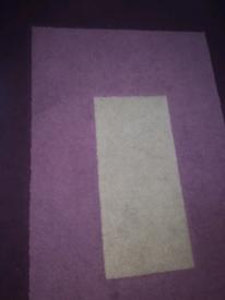 Purple and gray carpet