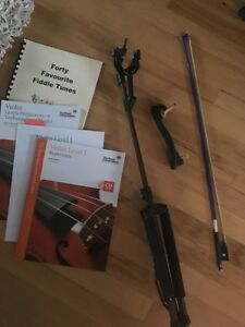 Violin bow, chin rest, stand and books St. John's Newfoundland image 1