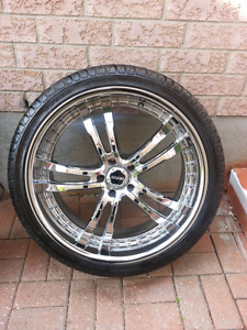 22inches tires with rims boss for sale
