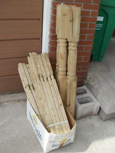 DECK FENCE POSTS  AND BALUSTERS
