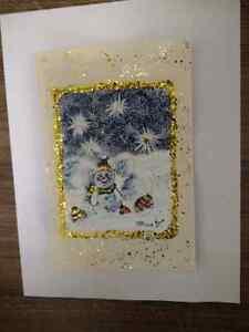 Magnifiques cartes de Noël fait à la main avec peinture.  Saint-Hyacinthe Québec image 10