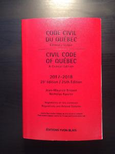 Code civil du Québec  2017-2018