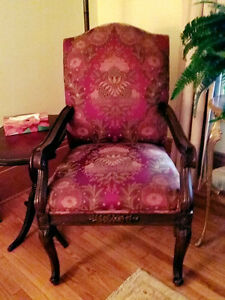 Four (4) Beautiful Antique Chairs, Newly Recovered
