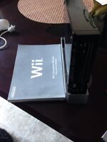 Nintendo Black Wii with Controllers