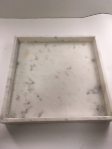 "Three Hands Corp Marble Tray 12"" x 12"" x 2"""