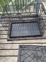 Double door folding dog crate
